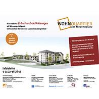 Bauschild für barrierefreie Wohnungen in Düsseldorf